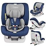 KIDWELL Autositz 0-36 kg | 0-12 Jahren | Gruppe 0+ / 1/2 / 3 | Kindersitz mit 5-Punkt-Gurtsystem & Isofix ECE R44/04 | verstellbare Kopfstütze und Rückenlehne | stabil & sicher | Blau