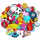 FANDE 100 Pcs Different PVC Shoe Charms,Charm decorativo Mix color Colori e stili casuali,for Croc Shoes & Bracelet Wristband Kids Party Birthday Gifts.