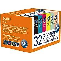 プレジール 互換インクカートリッジ EPSON 6色セット(ブラック・シアン・マゼンタ・イエロー・ライトシアン・ライトマゼンタ) IC6CL32 PLE-E326P