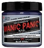 MANIC PANIC CLASSIC SEMI-PERMANENT VEGAN HAIR COLOR DYE 4 OZ Color Blue Steel