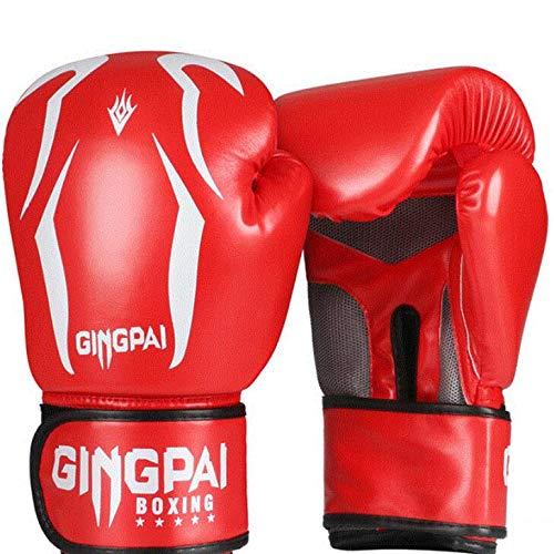 Kinder Boxhandschuhe Set 6oz 8oz | Scorpio Child Punching Gloves | Damen Boxhandschuhe | MMA Handschuhe | 6 bis 16 Jahre | Muay Thai Taekwondo Sanda Fight | Schwarz Weiß Rot Blau