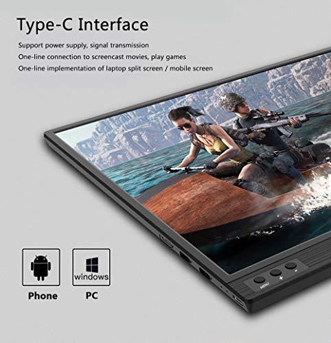 UCMDAモバイルモニター-モバイルディスプレイ15.6インチゲームモニター超薄1920x1080P/USBType-C/MiniDP/PS4XBOXゲームモニタ/標準HDMIモバイルディスプレイ保護カバースタンド付(黒)