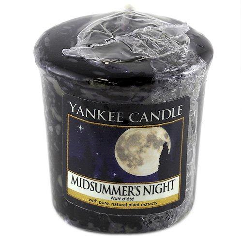 Yankee candle Samplers Candele Votive Midsummer's Night, Profumo naturale, Cera, Porpora, 4.5x4.7x5 cm