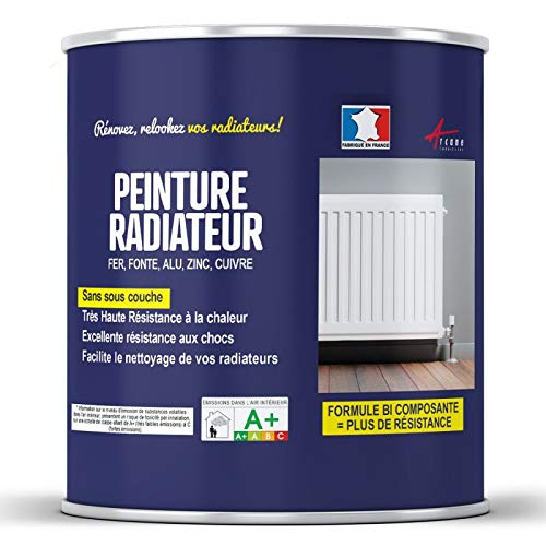 Pintura especial para radiador, color blanco, negro para hierro fundido, acero de aluminio y cobre – pintura radiador – marca