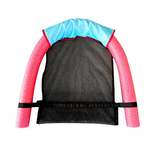 Anyutai - Silla de piscina ligera y flotante suave y cómodo, para adultos, 6,5 x 150 cm, color rojo