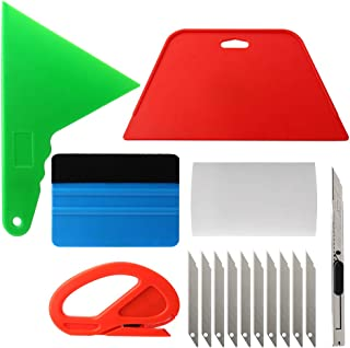 Wallpaper Smoothing Tool Kit for Adhesive Contact Paper Application, Window Film Craft Vinyl Wallpaper, Car Wrapping, Vehicle Glass Protective Film Wrapping Tint Vinyl Installing