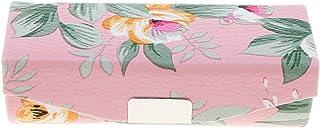 Portátil Caja de Almacenaje Envase de Joyaría Recipientes Pintalabios Estuche de Viaje - Rosado