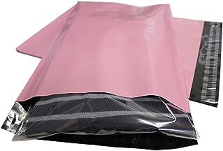 宅配ビニール袋 ピンク A4大きめ 厚手【100枚入】強力テープ付き 透けない ピンク(外側) 黒(内側) クリップポスト ゆうパケット ゆうメール ネコポス対応サイズ