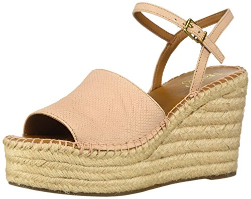 Franco Sarto Damen Tula Espadrille Keilabsatz Sandale, Pink (pfirsich), 37 EU