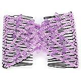 FOLOSAFENAR avec Pince à Peigne Magique pour Cheveux élastiques pour Femme, Femme, Fille, Petite Amie(Purple)