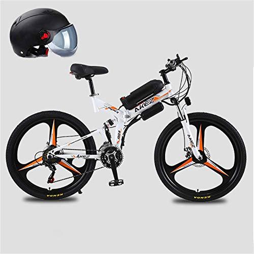 Alta velocidad 26 '' 350W motor eléctrico plegable bicicleta de montaña, bicicleta eléctrica con 48V de iones de litio, la suspensión total de la prima y el 21 de engranajes de velocidad