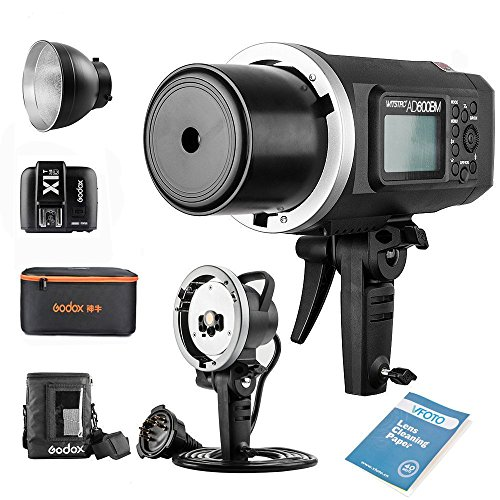 Godox Witstro AD600BM Bowens Mount Manual Versión Aire Libre Flash+ X1T-C Transmisor+ Ad-h600b +CB-09 para Canon 6D 7D 50D 60D 1DX 600D 600EX-RT 580EX II 5D Mark II III