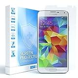 EAZY CASE 1x Panzerglas Bildschirmschutz 9H Festigkeit kompatibel mit Samsung Galaxy S5 / S5 Neo, nur 0,3 mm dick I Schutzglas aus gehärteter 2,5D Panzerglasfolie, Bildschirmschutzglas, Transparent/Kristallklar