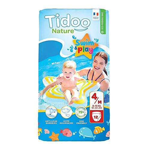 Tidoo 503990 - Swimmers pañales para el baño t4, 8 15kg, unisex