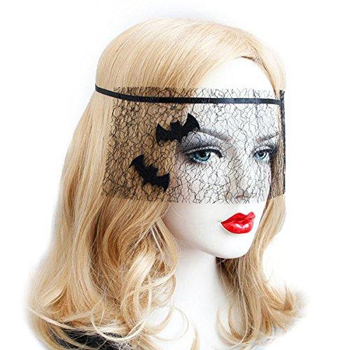 HKHJN Halloween kostuum Black Bat Net garen masker speelgoed voor maskerade bal feest
