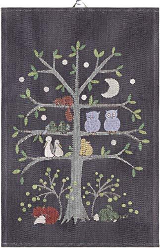 Ekelund Tiere Nacht Geschirrtuch (Oeko-Tex) 40x60 cm