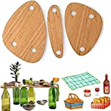 Wine Bottle Topper Serving Tray Set,Wooden Red Wine Bottle Tray, Snack and Cheese Holder Tray, for Backyard Camping, Garden, Travel,Cocktail Bottle Charcuterie Board Tray.