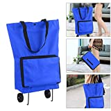 Hylotele Foldable Shopping Trolley Bag with Wheels Collapsible Shopping Cart Reusable Foldable Grocery Bags...