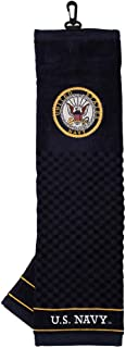 Team Golf Military Embroidered Golf Towel, Checkered Scrubber Design, Embroidered Logo