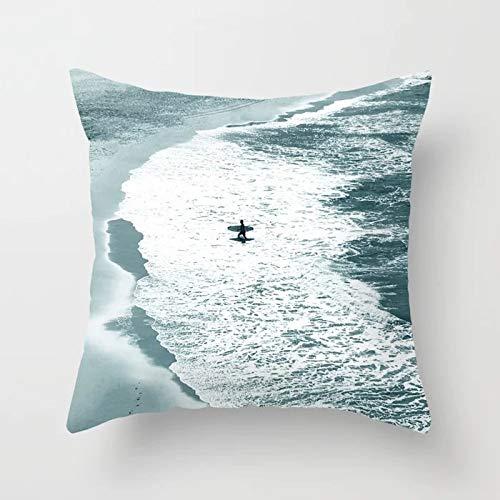 Tropical Throw Pillow Cover Flamingo Leaf Cactus Coconut Funda de cojín geométrica Funda de Almohada para sofá Funda de cojín A21 45x45cm 1pc