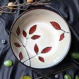 HUAHUA Bowls Tazón de sopa de cerámica japonesa Ramen tazón creativo Vajilla Ensalada 7,8 pulgadas Inicio del cuenco de fruta Postre cuenco de 850 ml