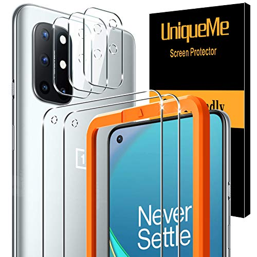 [2 Pack]UniqueMe Protector de Pantalla Compatible con Oneplus 8T y [3 Pack]...