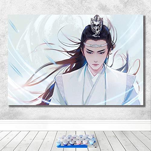 Olieverfschilderij digitaal om zelf te maken uit de tv-serie, motief sterren, decoratief schilderij, handgeschilderd, 40 x 50 cm