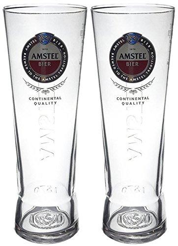 2 x Amstel Pint Glass New Design (2 Glasses)