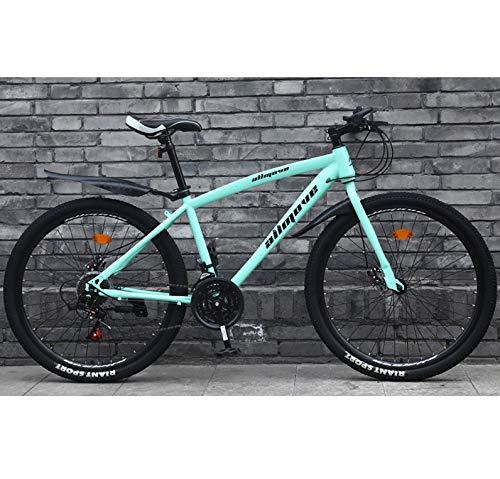 AP.DISHU Adulto Bicicleta De Carretera 26 Pulgadas Bicicleta De Carreras para Hombres con Freno De Disco Doble Bicicleta De Carretera City Utility Bike,Verde,21 Speed