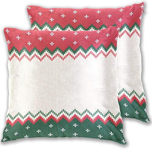 RURUTONG Kissenbezug mit Aztekenmuster, Baumwolle, für Bett, Sofa, Couch, quadratisch, 50,8 x 50,8 cm, 2 Stück 2010966