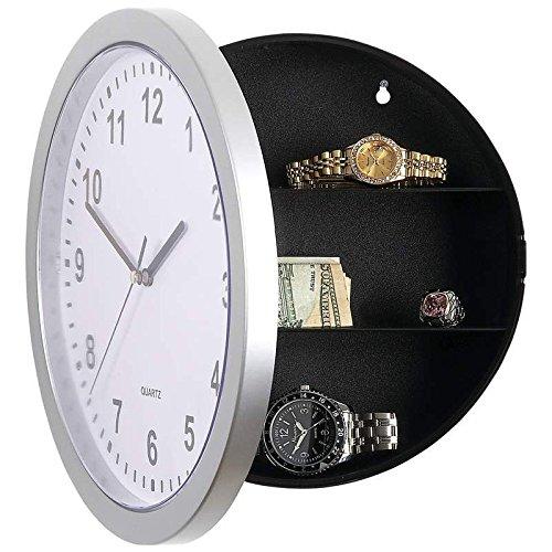 Orologio da parete, con cassaforte, Modello: Wandsafe HMF, cm 25