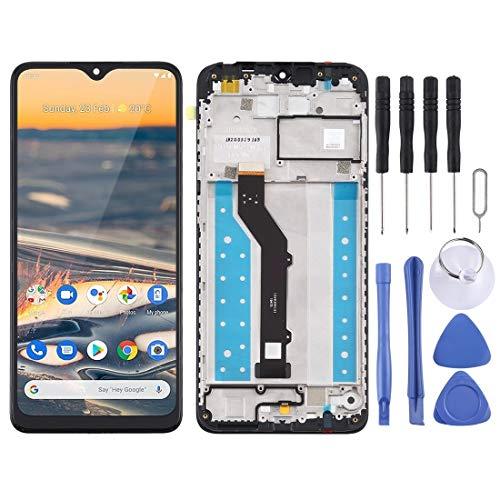 GUODONG Accesorios de reparación de pantalla LCD y digitalizador con marco para Nokia 5.3 / TA-1227 / TA-1229 / TA-1223 / TA-12234 piezas de repuesto (color: negro)