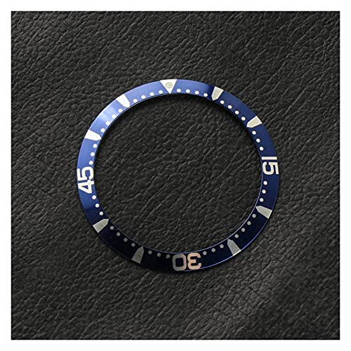 ZRNG 39 * 32.2mm Negro Azul Bisel de Aluminio Inserto 41mm Fit Dial Fit para Longines HydroConQuest L3 Reloj Relojes Face Relojes Accesorio de reemplazo (Color : B)