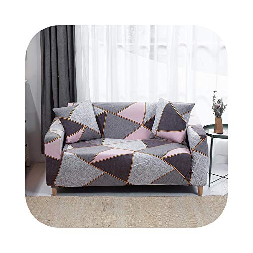 shop 1994 2021 Geometric Sofa Cover Spandex for Living Room Elastic Material Double-seat Sofa loveseat Chair slipcovers Couch Covers-Color 12-1pc 3-seat 190-230cm