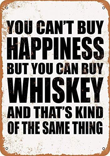 Volly U kunt niet kopen Geluk Maar U kunt kopen Whiskey Store Thuis Vintage Schilderen Plaque Bar Muur IJzeren Decoratie