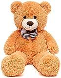 FSN Peluche Orsacchiotto di Peluche 100 cm Peluche Animali di Peluche Orsacchiotto Bambola Regalo per Ragazza di San Valentino per Bambini (Arancia)