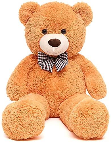 FSN Oso de Peluche Gigante Grande Teddy, 100cm Osito Suave y Cariñoso para Niños y Adultos Naranja