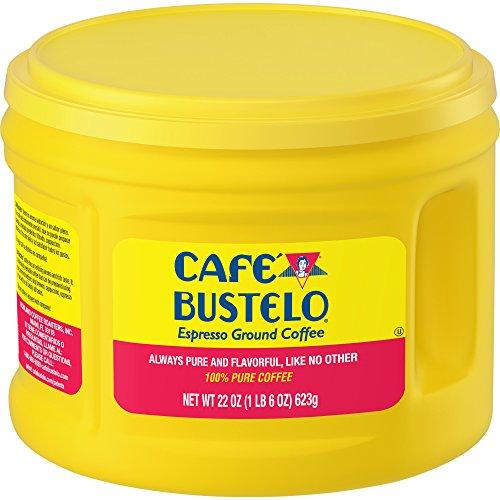 Café Bustelo Espresso Dark Roast Ground Coffee, 22 Ounces (Pack of 6)