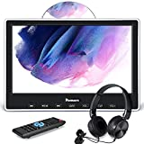 NAVISKAUTO 10.1' Car DVD Player with HDMI Input Wired Headphone Mounting Bracket, Car Headrest DVD Player Support Sync Screen, AV in & Out, Last Memory, Region Free, USB/SD Card