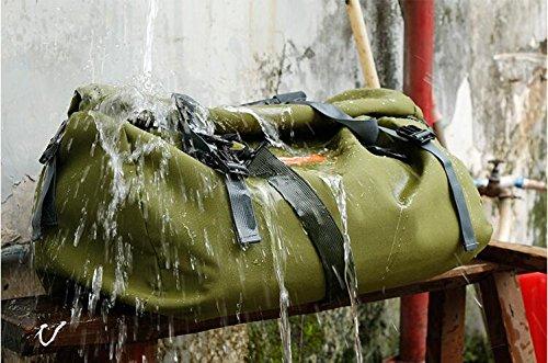 Impermeable rollo bolsa universal motocicleta impermeable aventura a prueba de agua bolsa de equipaje Touring IP560L ejército verde