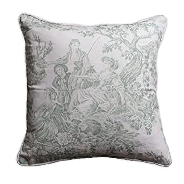 Maison d' Hermine The Miller 100% Cotton Toile Decorative Pillow Cover 18 Inch by 18 Inch