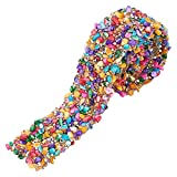 PandaHall Cinta de diamantes de imitación de cristal, con cuentas de piedra artificial colorida, para decoración de teléfono, 3,7 cm de ancho