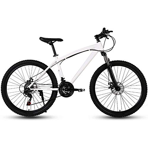 Mountain Bike for Adults, Mens Bike 27-Speed Adult Road Bike Off Road Double Disc Brake for Men and Women,A,26 Inch