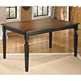 Signature Design by Ashley Owingsville Rectangular Black/Brown Dining Room Table