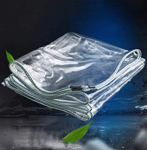 Lona PVC Transparente Lona Impermeable Suave Tela de plástico balcón Espesa Cortina de Lluvia Sun Lona de protección con el Metal Ojales 350gsm (Size : 3X6m)