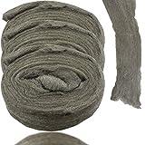 LeonBach 3 Roll #0000 Super Fine Finish Steel Wool Pads, Scrubbing Polishing Pads Steel Wool Fabric DIY Kit, About 118' / roll