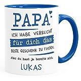 SpecialMe® Tasse personalisiertes Geschenk Spruch Papa/Mama Ich habe versucht für dich das beste...