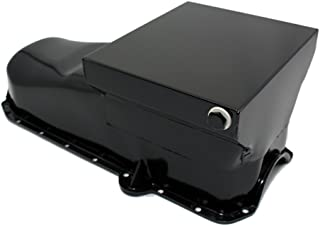Assault Racing Products A9731PBK Small Block Chevy Black Drag Style 7qt Oil Pan 2-Piece Rear Main SBC 305 350