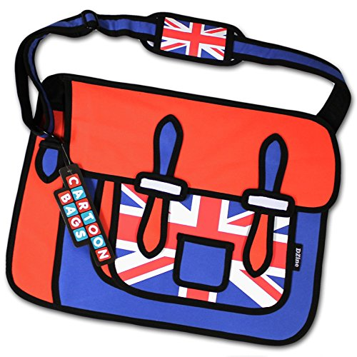 2D Union Jack Cartoon Bag