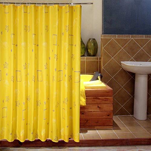 WWWWWWW Waterbad gordijn gordijn gordijn badkamer blok geel cartoon douchegordijn